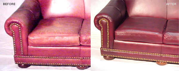 Leather Couch Refurbishing