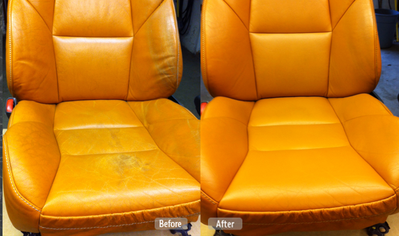 Automotive leather seat repair