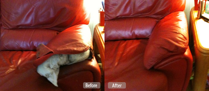 Ripped couch cushion repair