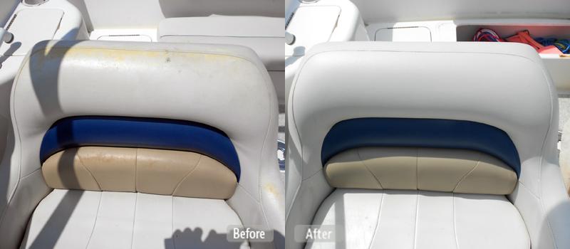 Sun Damaged Boat Seat Repair