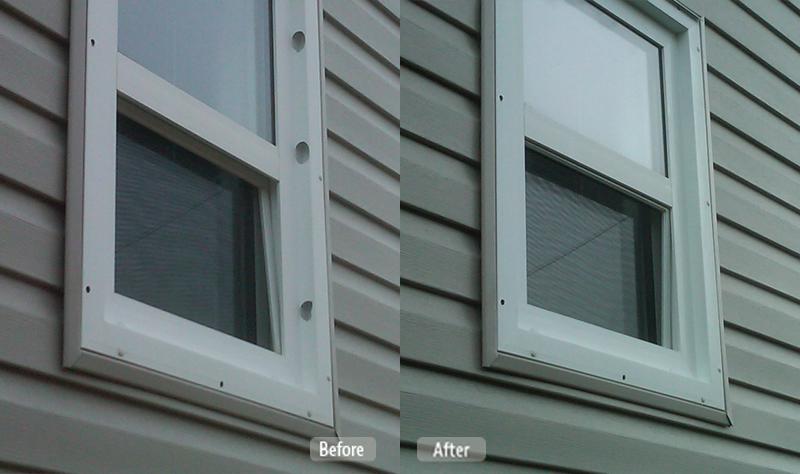 Fix Pvc The Window : Vinyl siding and window casing repair